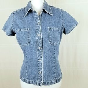 The Gap vintage jean shirt with pearly snaps M